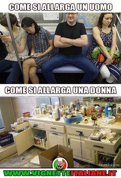 Come si allarga un uomo e come si allarga una donna :D (www.VignetteItaliane.it)