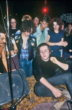 Nick Cave watches The Saints perform at the Tiger Room, Melbourne 1977