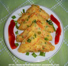 Chicken Veggie Pockets ( Savory Cakes in a Sandwich maker )
