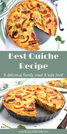 best quiche recipe sliced
