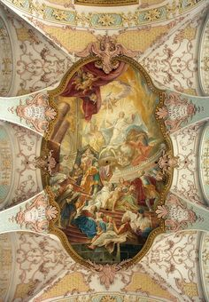 Ceiling fresco of the Holy Spirit Church München