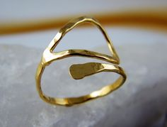 hammered gold ring, $58