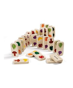 Fruit & Veggie Dominos by Plan Toys