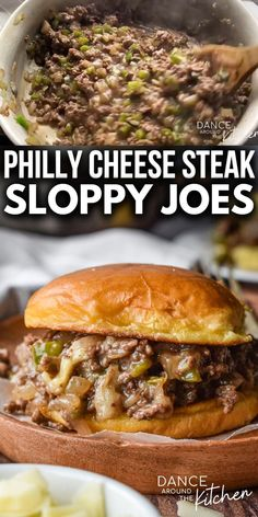 Bbq Beef Sandwiches, Philly Cheese Steak Sandwich, Steak Sandwich Recipes, Sandwiches For Dinner, Homemade Sloppy Joe Recipe, Homemade Sloppy Joes, Healthy Sloppy Joes, Crockpot Sloppy Joe Recipe, Easy Sloppy Joe Recipe