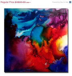 Abstract ArtHuge Abstract Painting Original by newwaveartgallery, $900.00