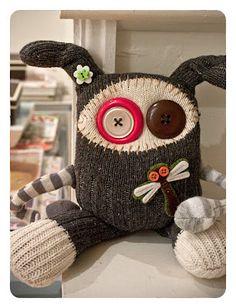 RAWR: handmade sock