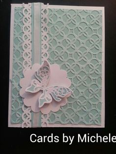 Handmade card using Stampin' Up core'dinations card stock