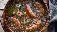 Колбаса и Чечевица рецепт с фото, за 45 мин. приготовить на 4 человек(а) Выпечка дома от Chefcook Pork, Meat, Kale Stir Fry, Pigs, Pork Chops