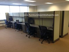 used office cubicles assembled and reconfigured in southern MD by Furniture Assembly Experts LLC