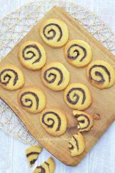 Rol je deeg op met een kaneel/suikervulling en geniet van deze spiraalkoekjes met kaneel en suiker. Zo easy! Swirl cookies with cinnamon.