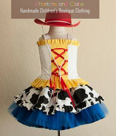 toy story inspired jessie costume custom by charlotteandclaire cowgirl jessie costume - Toddler Jessie Halloween Costume