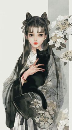 [Ancient style beauty] Yi Bing May painting collected to the ancient style illustration picture) _ petal illustration / comics