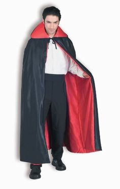 satin reverse cape red black 56 gothic vampire halloween costume http - Black Dynamite Halloween Costume