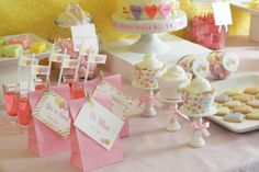 The home of all things cute! Candy Buffet Tables, Dessert Buffet, Candy Table, Dessert Tables, Kawaii Cooking, Candy Display, Cute Asian Fashion, Little Pony Party, Valentines Day Desserts