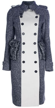 BURBERRY P Double Breasted Coat
