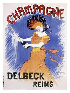 Champagne Delbeck Reims Stampa giclée