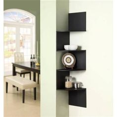 And now the corner shelf in black! these would look great in the office