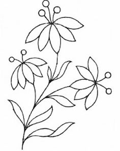 Wonderful Ribbon Embroidery Flowers by Hand Ideas. Enchanting Ribbon Embroidery Flowers by Hand Ideas. Hand Embroidery Patterns Free, Embroidery Flowers Pattern, Simple Embroidery, Ribbon Embroidery, Flower Patterns, Flower Designs, Embroidery Stitches, Machine Embroidery, Machine Quilting