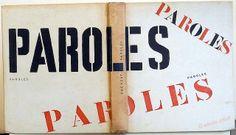Paroles, Jacques Prévert. Le club français du livre, Paris, 1948. Designed by Pierre Faucheux