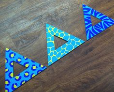 Large hand-painted Deltas, sooooo freaking adorable! AND you can order them in any print/color you want!!