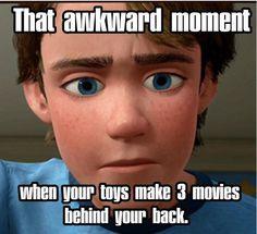 Haha! That would be awkward