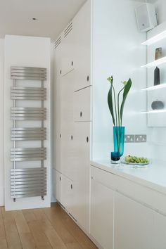 The Aeon Siesta designer radiator ia a panel of smooth stainless steel, it reflects light and creates all the intrigue of fine art with the added bonus of an amazing heat output and plenty of space to hang towels. Available in a brushed and polished stainless steel finish. Additional electric only and dual fuel options available. Complete with a 20 year guarantee. Prices from £570.96!