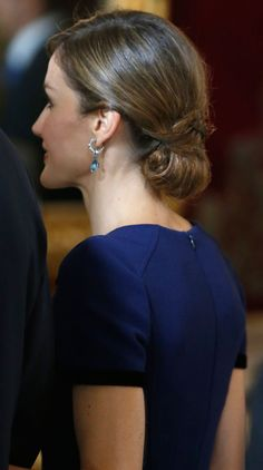 Queen Letizia of Spain attends Spain's National Day royal reception at Royal Palace in Madrid on October 12, 2015 in Madrid, Spain.