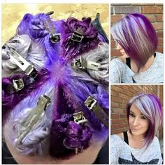 I wouldn't do purple, but I wonder what it would look like with brown and blond