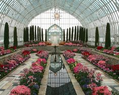 Easter display at the Marjorie McNeeley Conservatory, Saint Paul, Minnesota. It's full of azaleas, lilies & other springtime flowers. The smell is lovely!