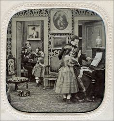 Piano lessons, 1860