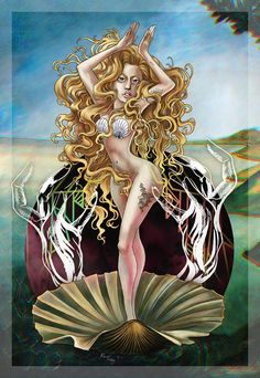 thecolormonster:  The Birth of VENUS (Gaga Version)
