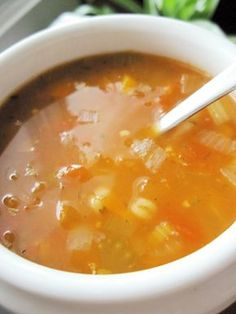 Soupe orge & tomates | Tous à vos chaudrons