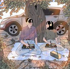 Human Art Photography Artworks Ideas For 2019 Cute Couple Drawings, Cute Couple Art, Pretty Drawings, Anime Love Couple, Aesthetic Art, Aesthetic Anime, Love Illustration, Human Art, Korean Artist