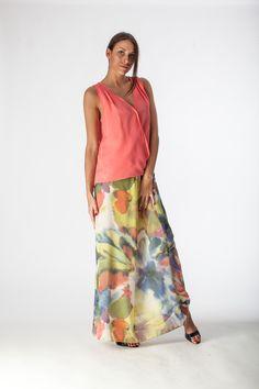 Falda floreada, flowered skirt, gonna fiorata.