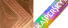 Kaspersky box - foiled with a special MicroSecurFoil / anti-counterfeiting holographic microtextured die - design and dies manufacturing by gasperini.it