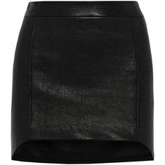 Mason by Michelle Mason Textured leather-paneled woven mini skirt (765 PEN) ❤ liked on Polyvore featuring skirts, mini skirts, bottoms, black, mini skirt, mason by michelle mason, textured skirt, short skirts and zipper skirt