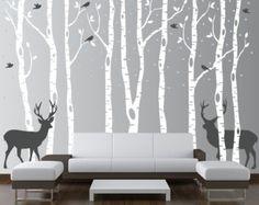 Birch Tree Wall Decal Nursery Forest Vinyl by innovativestencils