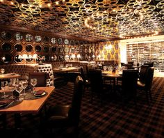 The Barrymore - Gold Room private dining.  New, old-school Vegas restaurant.