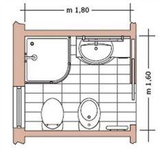 Casa moderna, Roma Italy: Planimetria bagno piccolo - Rebel Without Applause