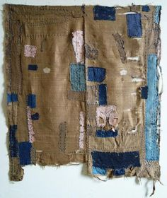 A Silk Boro Cloth: Safflower Dyed Paper Patches | SRI Threads