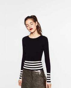 STRIPED HEM SWEATER - Available in more colours