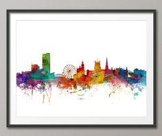 Cape Town South Africa Skyline Art Print 12x16 up to by artPause $22.16