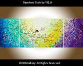"72"" Huge Abstract Impasto painting landscape painting wall art by qiqigallery wall decor home decor Gift ideas    $495.00"