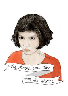Amélie Poulain watercolour portrait illustration by ohgoshCindy