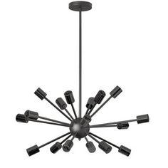 Dainolite Matte Black Steel 18-light Satellite Horizontal Pendant - Free Shipping Today - Overstock.com - 18888354 - Mobile