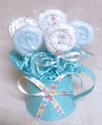 Washcloth Lollipop Centerpiece (boy)
