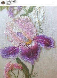 Super Ideas for embroidery patterns love needlework New Embroidery Designs, Embroidery Hoop Crafts, Crewel Embroidery Kits, Embroidery Monogram, Silk Ribbon Embroidery, Embroidery Patterns, Embroidery Thread, Crochet Decoration, Brazilian Embroidery