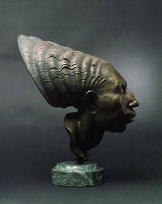 "American Legacy Fine Arts presents ""Open Mind"" a sculpture by Bela Bacsi. Sculpture Head, Lion Sculpture, Terracota, Equine Art, Installation Art, Les Oeuvres, Art Dolls, Sculpting, Carving"