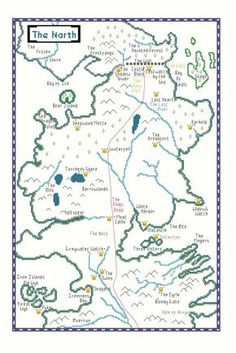 Game of Thrones Map of The North Cross Stitch Pattern