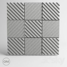 "models: Other decorative objects - ""OM"" Acoustic panel Soundwave Wood Wall Design, Tile Design, Wall Pannels, Acoustic Wall Panels, Music Studio Room, Recording Studio Home, Concrete Tiles, Sound Proofing, Sound Waves"